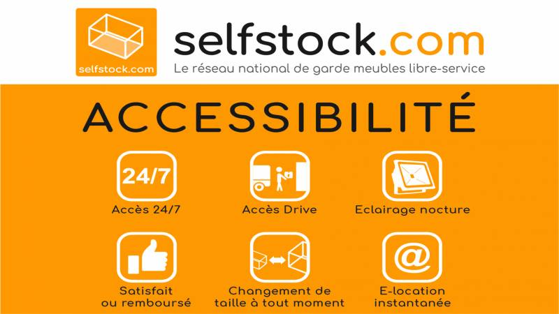 Accessibilité 24/24 self-stockage Chambly