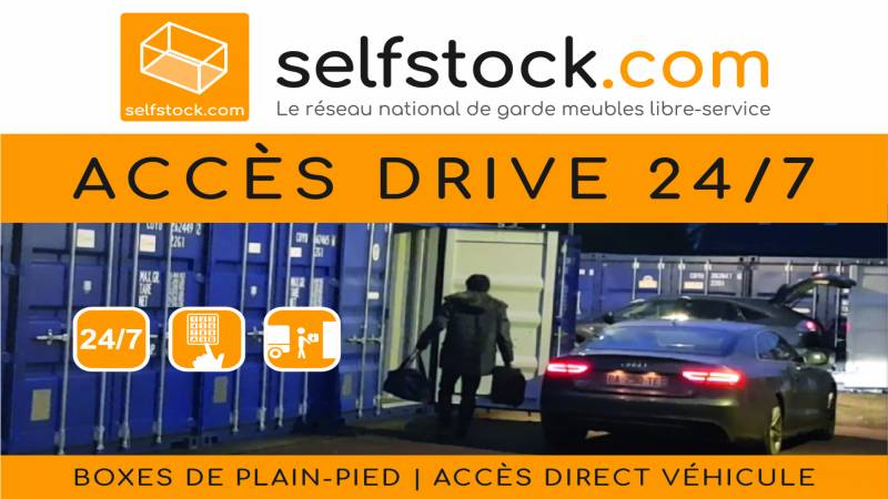 Accès drive 24h/7j container Chilly-Mazarin